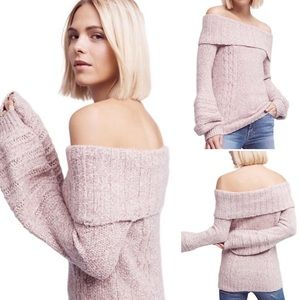 Anthro {Sleeping...} Off Shoulder Neves Pullover